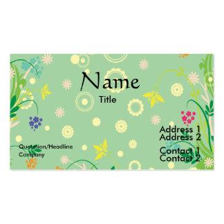 extracto en colores pastel de las flores tarjetas de visita