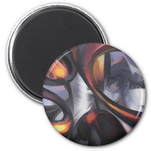 Extracto en colores pastel de ondulación de la fan imán de frigorifico