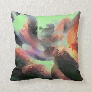 Extracto en colores pastel del agua del fuego almohada