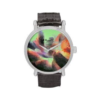 Extracto en colores pastel del agua del fuego relojes