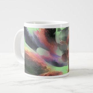 Extracto en colores pastel del agua del fuego taza grande