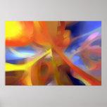 Extracto en colores pastel del amor vibrante impresiones
