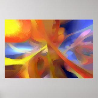 Extracto en colores pastel del amor vibrante póster
