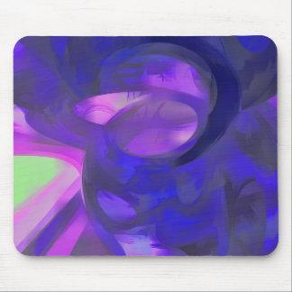 Extracto en colores pastel del humo azul mouse pad