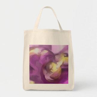Extracto en colores pastel del verano violeta bolsa tela para la compra