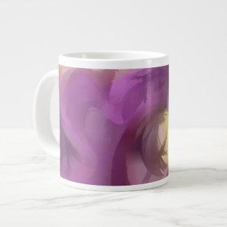 Extracto en colores pastel del verano violeta taza grande