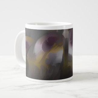 Extracto en colores pastel del viento tropical taza grande
