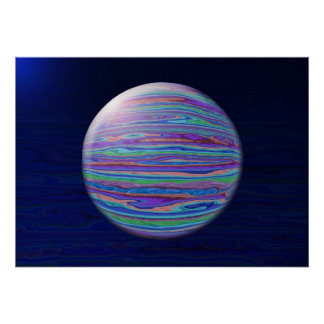 Extracto en colores pastel rayado de la esfera póster