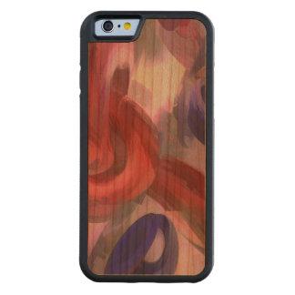 Extracto en colores pastel soltado funda de iPhone 6 bumper cerezo