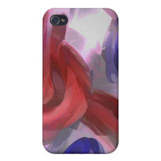 Extracto en colores pastel soltado iPhone 4/4S carcasas