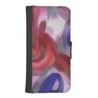 Extracto en colores pastel soltado funda cartera para teléfono