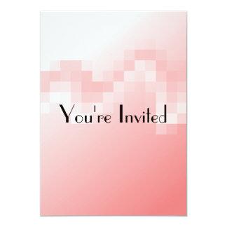 """Extracto en colores rosados suavemente calientes invitación 5"""" x 7"""""""