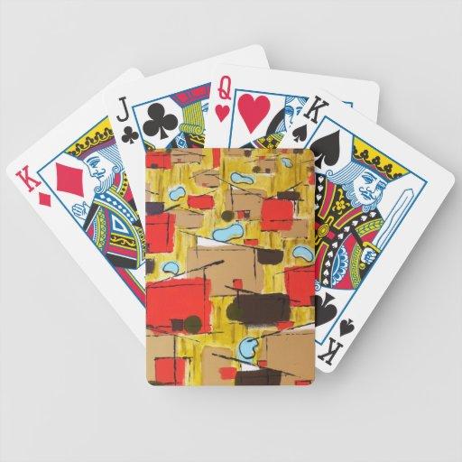 extracto en el eichlerhood por el barro baraja de cartas