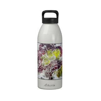 Extracto en rojo y amarillo Hojas Botellas De Agua Reutilizables