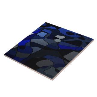 Extracto en sombras del azul azulejo cuadrado grande