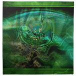 Extracto en verdes servilleta imprimida