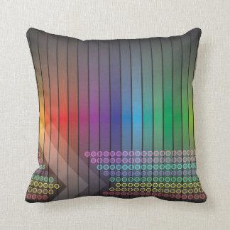 Extracto enrrollado del arco iris cojines