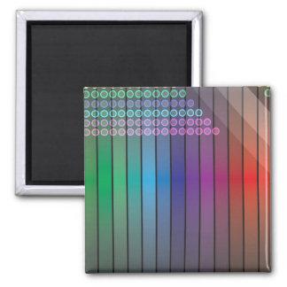 Extracto enrrollado del arco iris imán de frigorífico