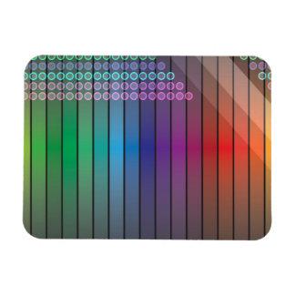 Extracto enrrollado del arco iris imán