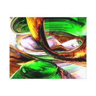 Extracto esmeralda de la ciudad impresión en lienzo