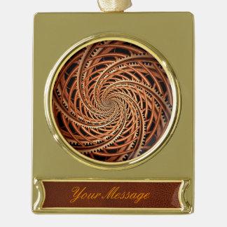 Extracto - espiral - montaña rusa mental adornos navideños dorados