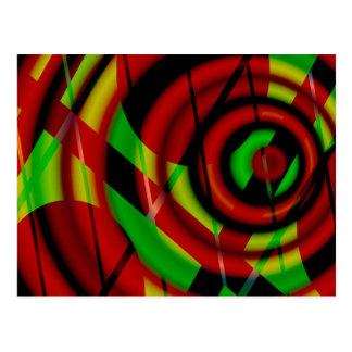 Extracto espiral verde rojo postal
