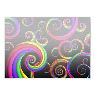 Extracto - espirales - dentro de un payaso invitación personalizada