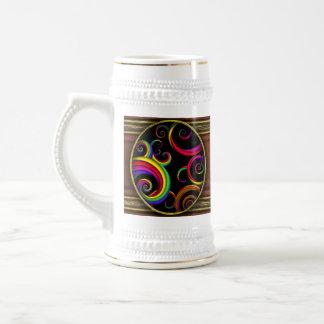 Extracto - espirales - dentro de un payaso tazas de café