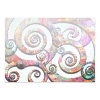 Extracto - espirales - país de las maravillas invitaciones personales