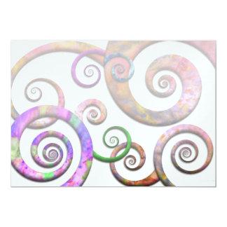 """Extracto - espirales - planeta X Invitación 5"""" X 7"""""""