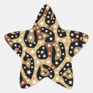 Extracto estupendo del guepardo de la estrella pegatina en forma de estrella