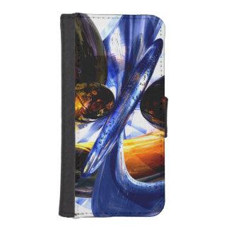 Extracto exaltado del resplandor funda tipo billetera para iPhone 5