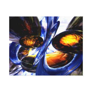 Extracto exaltado del resplandor impresión en lienzo estirada