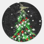 Extracto festivo del pegatina del árbol de navidad