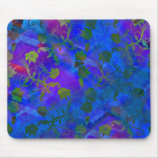 Extracto floral azul tapete de ratones
