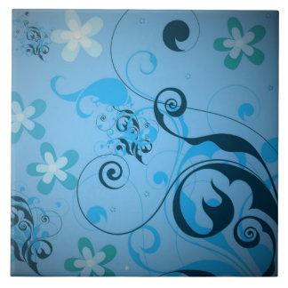 Extracto floral azulejo cuadrado grande