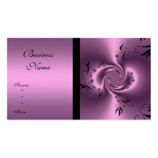 Extracto floral de color de malva y negro de la ta plantilla de tarjeta de visita