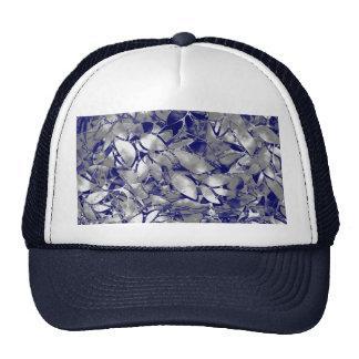 Extracto floral de la plata del arte del Grunge de Gorras De Camionero