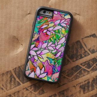 extracto floral del arte duro del Grunge del caso Funda De iPhone 6 Tough Xtreme