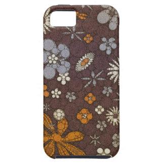 Extracto floral del tono de la tierra funda para iPhone SE/5/5s