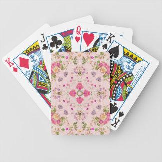 Extracto floral del vintage baraja de cartas