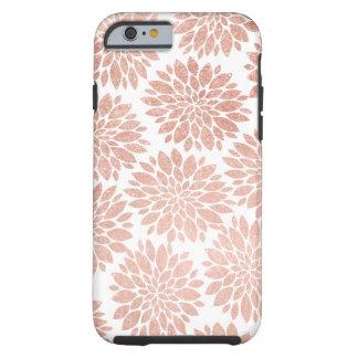 Extracto floral geométrico del oro color de rosa funda de iPhone 6 tough