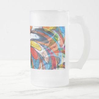 Extracto floral primario colorido taza de cristal