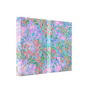 Extracto floral romántico del cenador impresión de lienzo