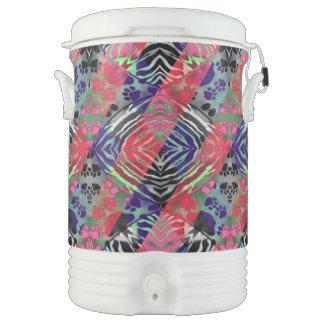 Extracto fluorescente de la cebra bonita de las vaso enfriador igloo