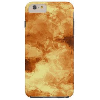 Extracto frotado de la hoja de oro funda de iPhone 6 plus tough