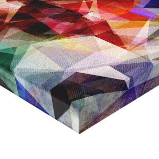 Extracto geométrico colorido impresiones en lona estiradas