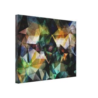 Extracto geométrico colorido lona envuelta para galerias