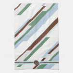 Extracto geométrico con el monograma toallas de cocina