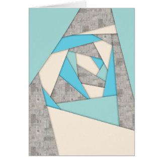Extracto geométrico de las formas tarjeta de felicitación